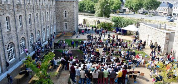 Lannion: Roudour à l'espace Sainte-Anne