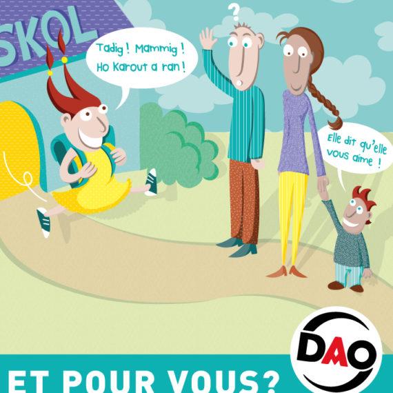 Vous avez choisi le breton pour votre enfant, et pour vous?